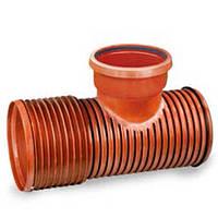 Кинета проходная Ф400 500-500 для ПП (гофрированных) труб, для колодцев дренажных (канализация)