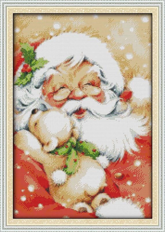Санта Клаус K543/2 Набор для вышивания крестиком с печатью на ткани 14ст