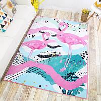 "Детский коврик на резиновой основе с фламинго ""Lost Heaven"""