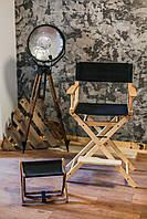 Стул для визажиста, складной, деревянный, стул режиссера, черный с натуральным цветом дерева