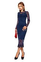 Стильное женское платье №1092 (темно-синий)