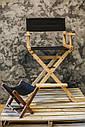 Стул для визажиста, складной, деревянный, стул режиссера, черный с натуральным цветом дерева, фото 6