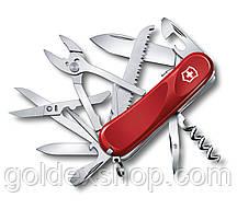 Нож Складной Мультитул Викторинокс Victorinox EVOLUTION S52 (85мм, 20 функций), красный 2.3953.SE