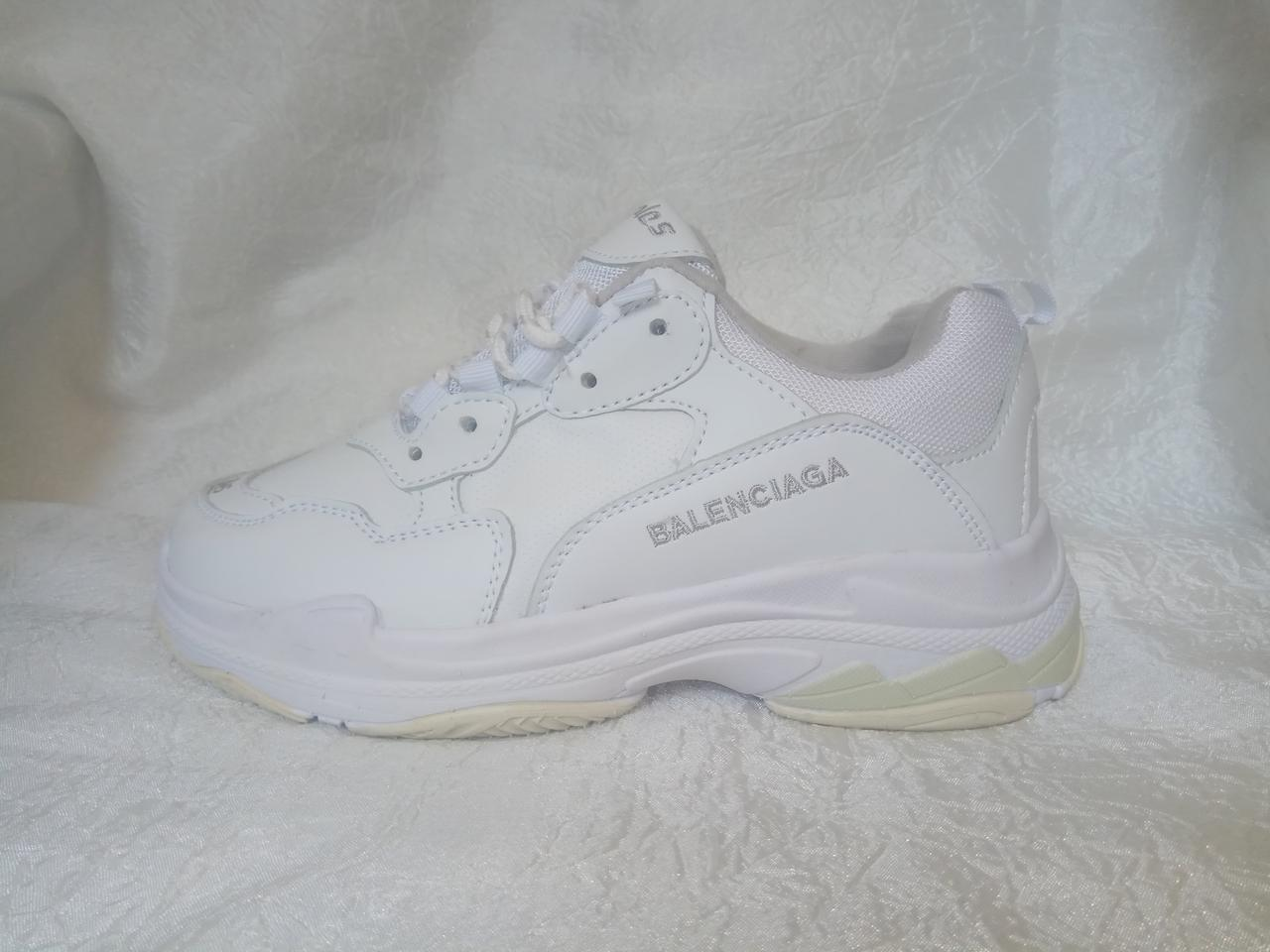 Женские кроссовки Balenciaga Triple S Leather White