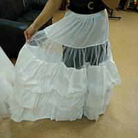 Подъюбник из жёсткого фатина без колец для пышных платьев