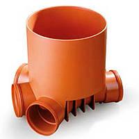 Кинета сборная для ПВХ труб Ф400 110-110-110-110 для колодцев дренажных (канализация)