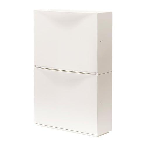 ТРОНЭС Галошница/шкаф, белый, 2 шт.
