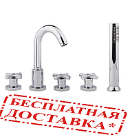 Смеситель для ванны буксовый многоотверстный Bianchi Amelix VSCAML 110 800 CRM