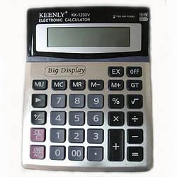 Калькулятор бухгалтерский настольный Keenly КК-1200V