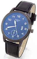 Мужские наручные часы (антрацитовый корпус, черный ремешок)