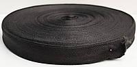 Киперная лента синтетика 2 см черная (50м)