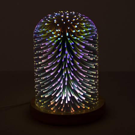 Светильник 3D акриловый Абстракция