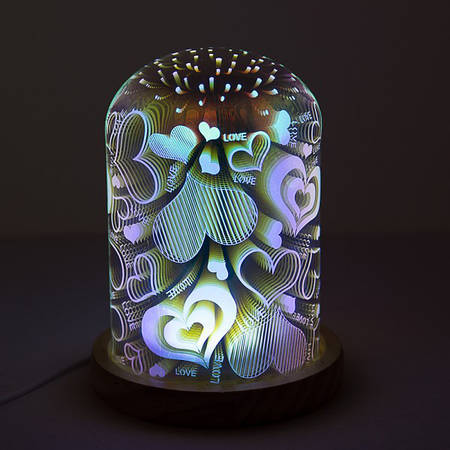 Светильник 3D акриловый Сердце