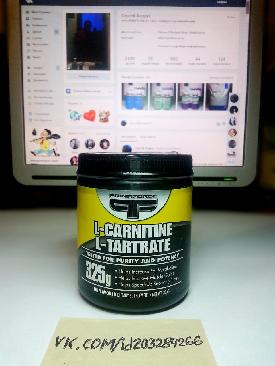PrimaForce L-Carnitine L-Tartrate 325г