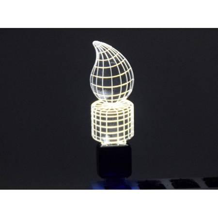 Светильник 3D акриловый Свеча