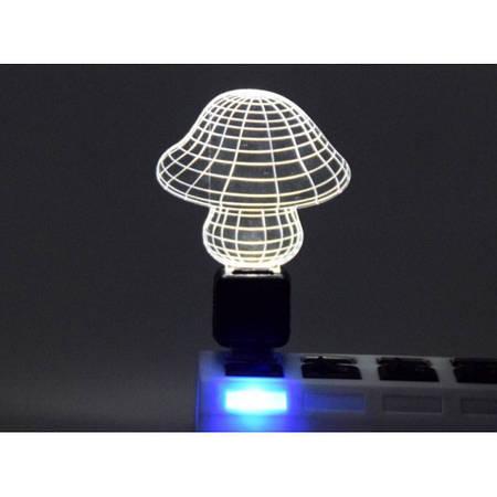 Светильник 3D акриловый Гриб