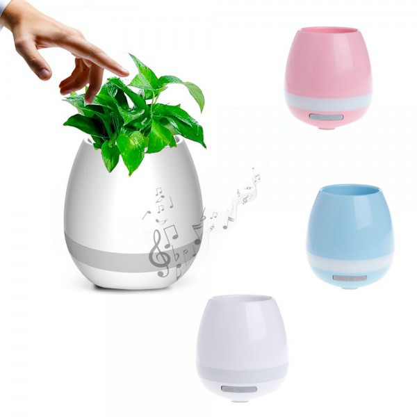 Горшок для растений с музыкой и подсветкой Smart music Flowerpot