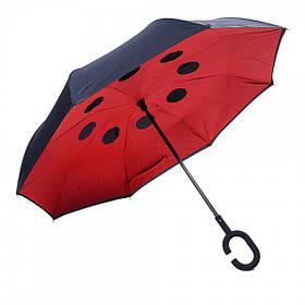 Зонт обратного сложения Black&Red