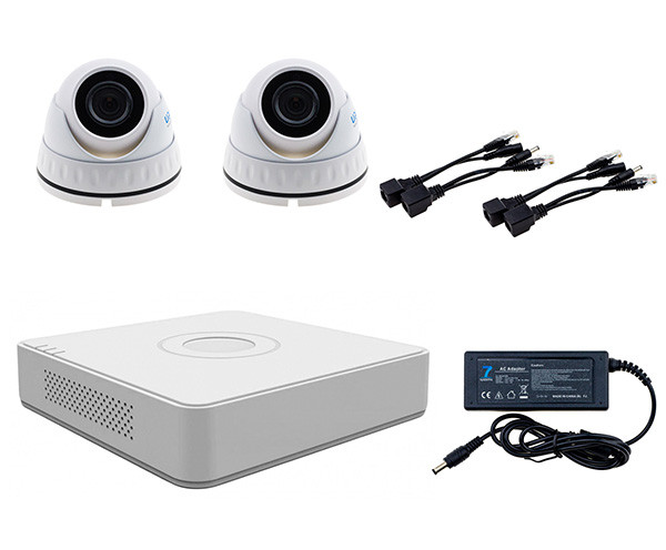 Комплект IP видеонаблюдения Dome-2