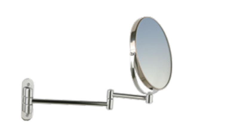 Настенное двойное зеркало для макияжа из нерж. стали