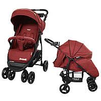 Коляска прогулочная Avanti Dark Red/1/, BabyTilly (T-1406 Dark Red)