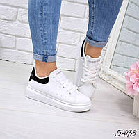 Кроссовки женские Q Collection белый + черные 5498, спортивная обувь, фото 1