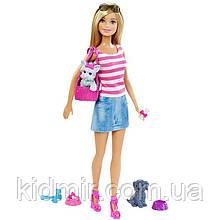 Кукла Барби и ее питомцы Barbie Puppy Accessory DJR56