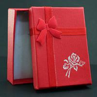 Подарочная коробочка 7х5х2 см., красная
