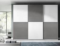 Шкаф купе на заказ PREMIUM Zola white + grafit V130