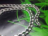 Срібна ланцюжок Панцир з візерунком, фото 3