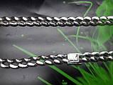 Серебряная цепочка Панцирь с узором, фото 4