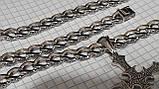 Срібна ланцюжок Панцир з візерунком, фото 5