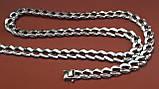 Срібна ланцюжок Панцир з візерунком, фото 6