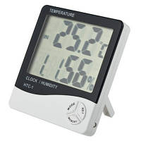 Термогигрометр Generic HTC-1 часы будильник метеостанция без выносного датчика Гарантия!