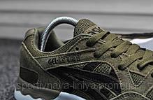 Кроссовки мужские зеленые Asics Gel Lyte V Hacky Black (реплика), фото 3