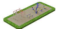 Спортивная площадка с уличными тренажерами 5810, фото 1