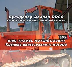 Каталог запчастей гидравлической системы бульдозера Doosan (Дусан) DD80   6190 TRAVEL MOTOR(COVER) Крышка двигательного мотора