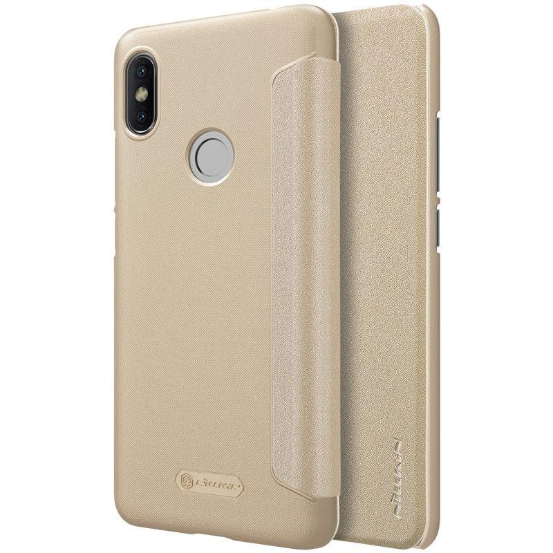 Nillkin XIAOMI Redmi S2 Gold NEW LEATHER CASE чехол - книжка