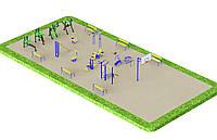 Спортивная площадка с уличными тренажерами КМ , фото 1