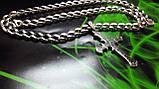 Срібна ланцюжок Панцир з візерунком, фото 4