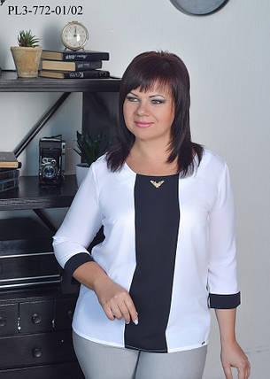 Женская стильная блуза прямого силуэта / размер 50,52,58, фото 2