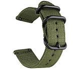 Нейлоновый ремешок Primo Traveller для часов Motorola Moto 360 2nd gen (46mm) - Army Green, фото 2