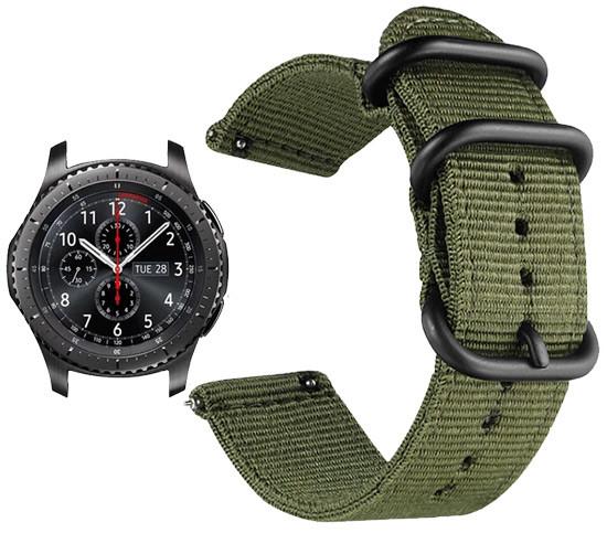 Нейлоновий ремінець Primo Traveller для годин Samsung Gear S3 Classic SM-R770 / Frontier RM-760 - Army Green