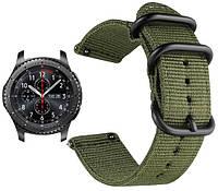 Нейлоновый ремешок Primo Traveller для часов Samsung Gear S3 Classic  SM-R770 / Frontier RM-760 - Army Green, фото 1