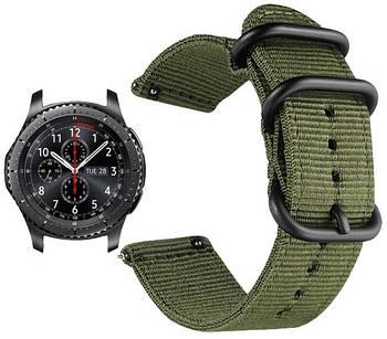 Нейлоновый ремешок Primo Traveller для часов Samsung Gear S3 Classic  SM-R770 / Frontier RM-760 - Army Green