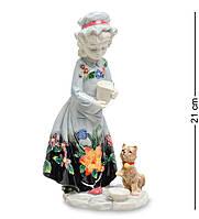 Фигурка Pavone Девочка с котенком 21 см (106147), фото 1