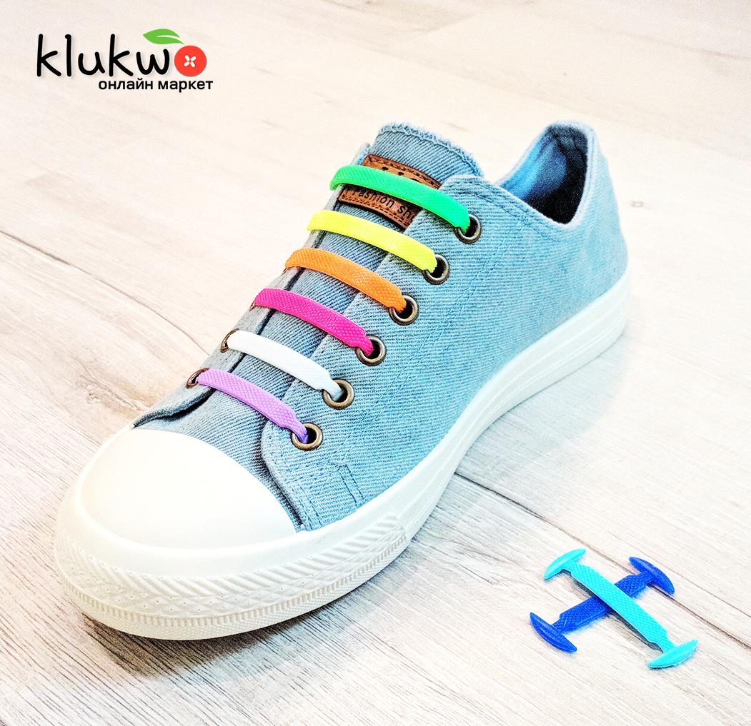 Силиконовые шнурки 8+8 (16шт комплект) Разноцветные  продажа 71af0139a37da