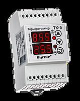 Терморегулятор ТК-5 двухканальный на динрейку с датчиком DigiTOP