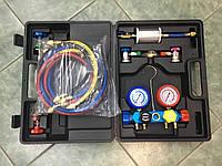 Манометрический коллектор 4-х вентильный CT-MCO2 (R-134,R-22,R-12),чемодан (Китай)