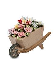 Композиция Pavone Весенние цветы в тележке 7 см (106066), фото 1